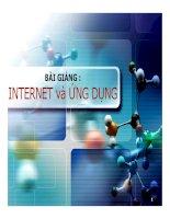 Bài giảng: INTERNET và ỨNG DỤNG docx