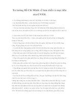 Tư tưởng Hồ Chí Minh về bản chất và mục tiêu của CNXH docx