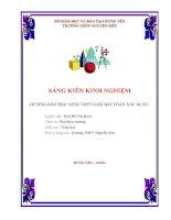 skkn hướng dẫn học sinh giải bài toán xác suất trung học phổ thông nguyễn siêu