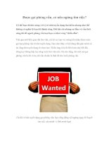 Được gọi phỏng vấn, có nên ngừng tìm việc? ppsx