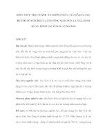 KIẾN THỨC THỰC HÀNH VỀ PHÒNG NGỪA TÉ NGÃ CỦA PHỤ HUYNH CÓ CON HỌC TẠI TRƯỜNG MẦM NON LA NGÀ pdf