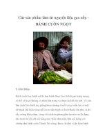 Các sản phẩm làm từ nguyện liệu gạo nếp - BÁNH CUỐN NGỌT pdf