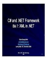 Ngôn ngữ lập trình: C# và .NET phần 7 ppsx