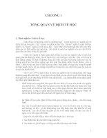 Giáo trình- Dịch tễ học đại cương - chương 1 pps