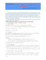 ứng dụng số phức trong các bài tóan cực trị hình học