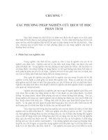 Giáo trình- Dịch tễ học đại cương - chương 7 pot