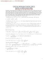 chứng minh bất đẳng thức bằng lượng giác hóa