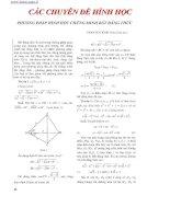 phương pháp hình học chứng minh bất đẳng thức