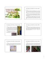 Bài giảng Nguyên lý thiết kế cảnh quan  Chương 7: Phương pháp sử dụng và cách thể hiện các dụng cụ để diễn họa