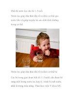 Chế độ nước lọc cho bé 1-3 tuổi pdf