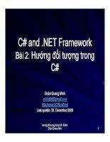 Ngôn ngữ lập trình: C# và .NET phần 2 docx