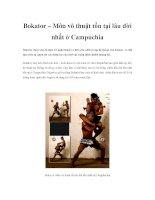 Bokator – Môn võ thuật tồn tại lâu đời nhất ở Campuchia doc