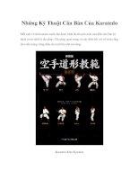 Những Kỹ Thuật Căn Bản Của Karatedo doc