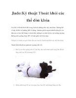 Judo:Kỹ thuật Thoát khỏi các thế đòn khóa pdf