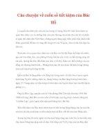 CHUYỆN VỀ BÁC HỒ - Câu chuyện về cuốn sổ tiết kiệm của Bác Hồ doc