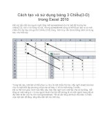 Cách tạo và sử dụng bảng 3 Chiều(3-D) trong Excel 2010 ppt