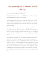 Trực giác nhạy bén và một thái độ sống tích cực pdf