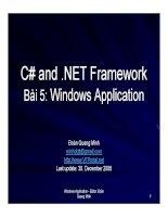 Ngôn ngữ lập trình: C# và .NET phần 5 docx