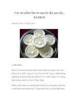 Các sản phẩm làm từ nguyện liệu gạo nếp - BÁNH IN ppsx
