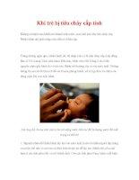 Khi trẻ bị tiêu chảy cấp tính pptx