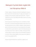 LƯỢC SỬ VIỆT NGỮ HỌC - Khái quát về sự hình thành và phát triển của Việt ngữ học (Phần 4) ppsx