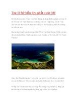 Top 10 bờ biển đẹp nhất nước Mỹ pdf