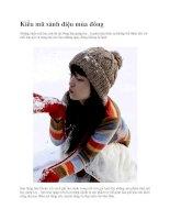 Kiểu mũ sành điệu mùa đông potx