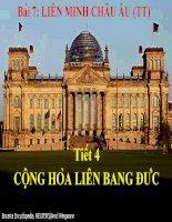 Bài 7 Tiết 4: Cộng hòa Liên Bang Đức