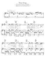 Bản nhạc Elton John - Your Song pps