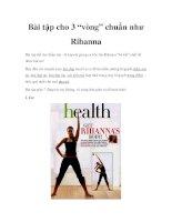 """Bài tập cho 3 """"vòng"""" chuẩn như Rihanna doc"""