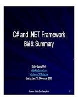 Ngôn ngữ lập trình: C# và .NET phần 9 pdf