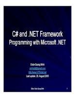 Ngôn ngữ lập trình: C# và .NET phần 10 docx