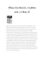 Hồng Gia Quyền, võ phim ảnh, võ thực tế pdf