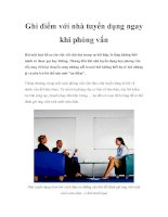 Ghi điểm với nhà tuyển dụng ngay khi phỏng vấn ppt