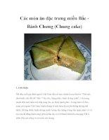 Các món ăn đặc trưng miền Bắc - Bánh Chưng docx