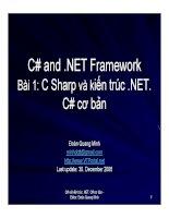 Ngôn ngữ lập trình: C# và .NET phần 1 docx