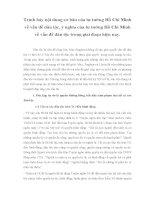 Trình bày nội dung cơ bản của tư tưởng Hồ Chí Minh về vấn đề dân tộc, ý nghĩa của tư tưởng Hồ Chí Minh về vấn đề dân tộc trong giai đoạn hiện nay ppsx