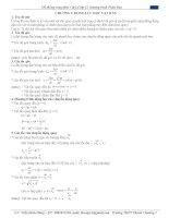 Hệ thống công thức vật lý 12 - chương 1 - Động lực học vật rắn potx