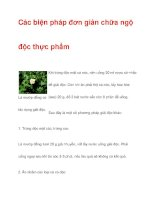 Các biện pháp đơn giản chữa ngộ độc thực phẩm pptx