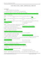 Bài tập amin - aminoaxit - protein