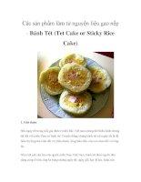 Các sản phẩm làm từ nguyện liệu gạo nếp - Bánh Tét doc