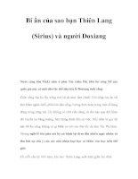 Bí ẩn của sao bạn Thiên Lang (Sirius) và người Doxiang doc