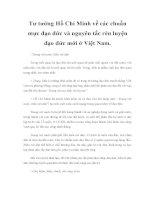 Tư tưởng Hồ Chí Minh về các chuẩn mực đạo đức và nguyên tắc rèn luyện đạo đức mới ở Việt Nam pdf