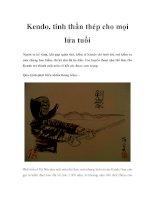 Kendo, tinh thần thép cho mọi lứa tuổi ppt