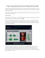 Top 4 ứng dụng hỗ trợ học tiếng Anh tốt nhất pdf