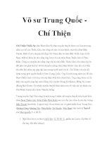 Võ sư Trung Quốc - Chí Thiện pptx