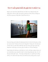 Trẻ 5 tuổi phải biết đi giật lùi ít nhất 5 m potx