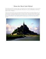Thăm đảo Mont Saint Michel pptx