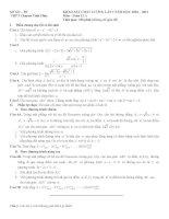 Đề và Đáp án thi thử ĐH môn Toán chuyên Vĩnh phúc 2011 pdf