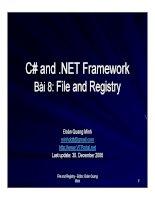 Ngôn ngữ lập trình: C# và .NET phần 8 doc